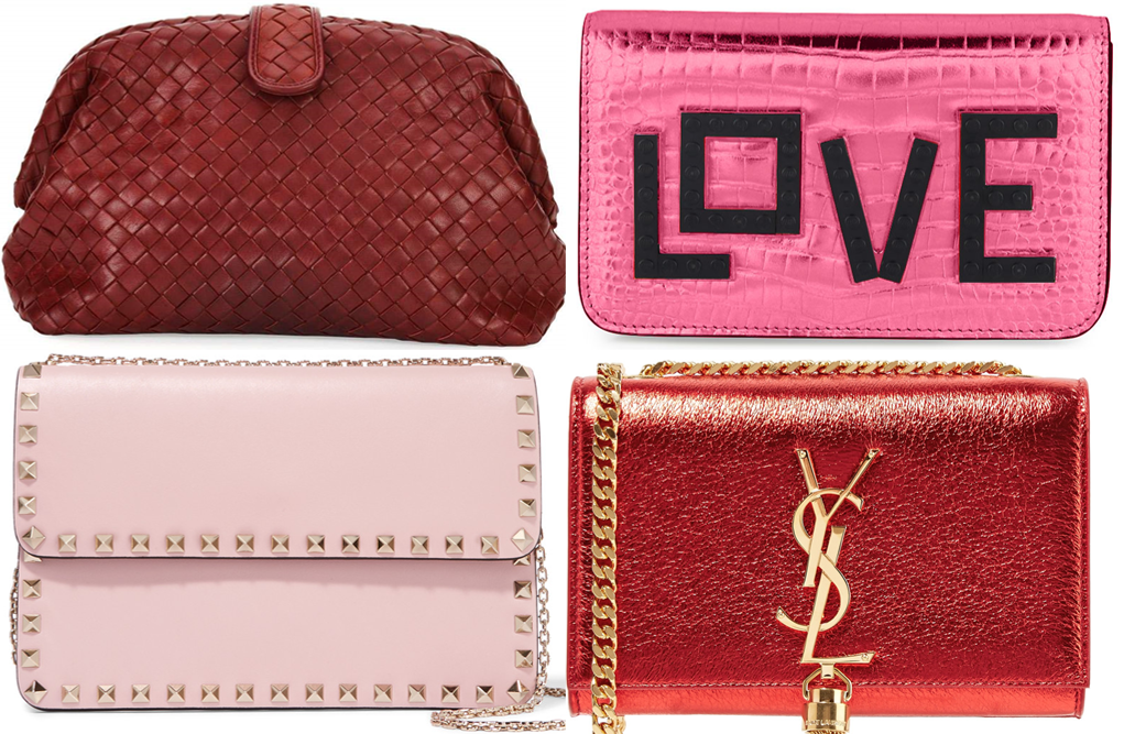 Red and pink handbags that are perfect for your Valentines day