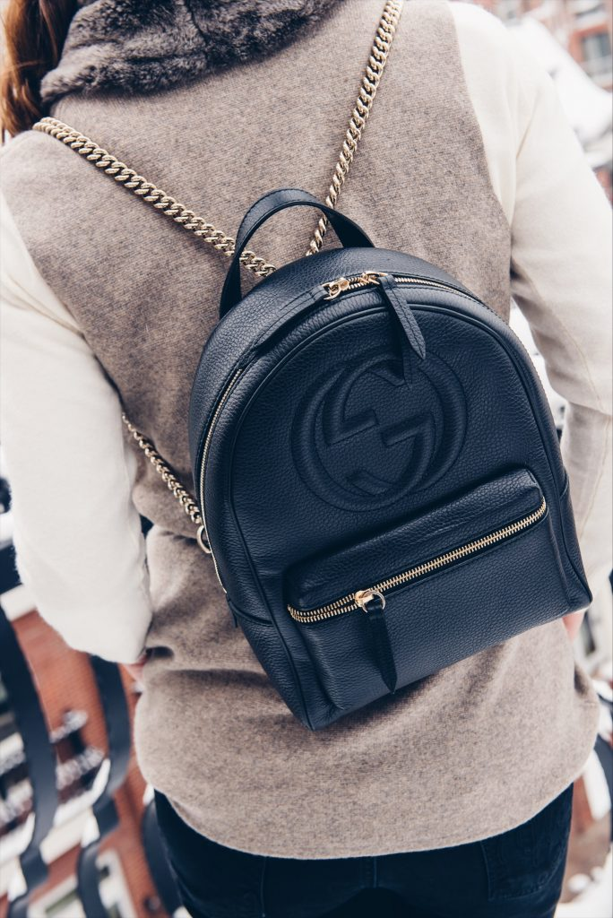 Gucci backpack is the perfect choice for the long haul travels
