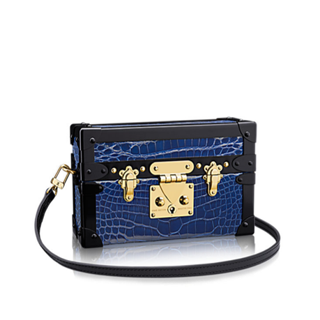 Louis Vuitton Petite Malle bag blue