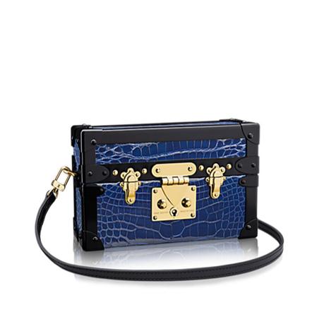 Louis Vuitton Petite Malle bag blue