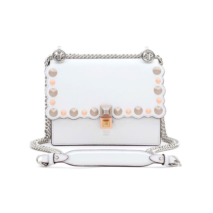 Fendi white handbag