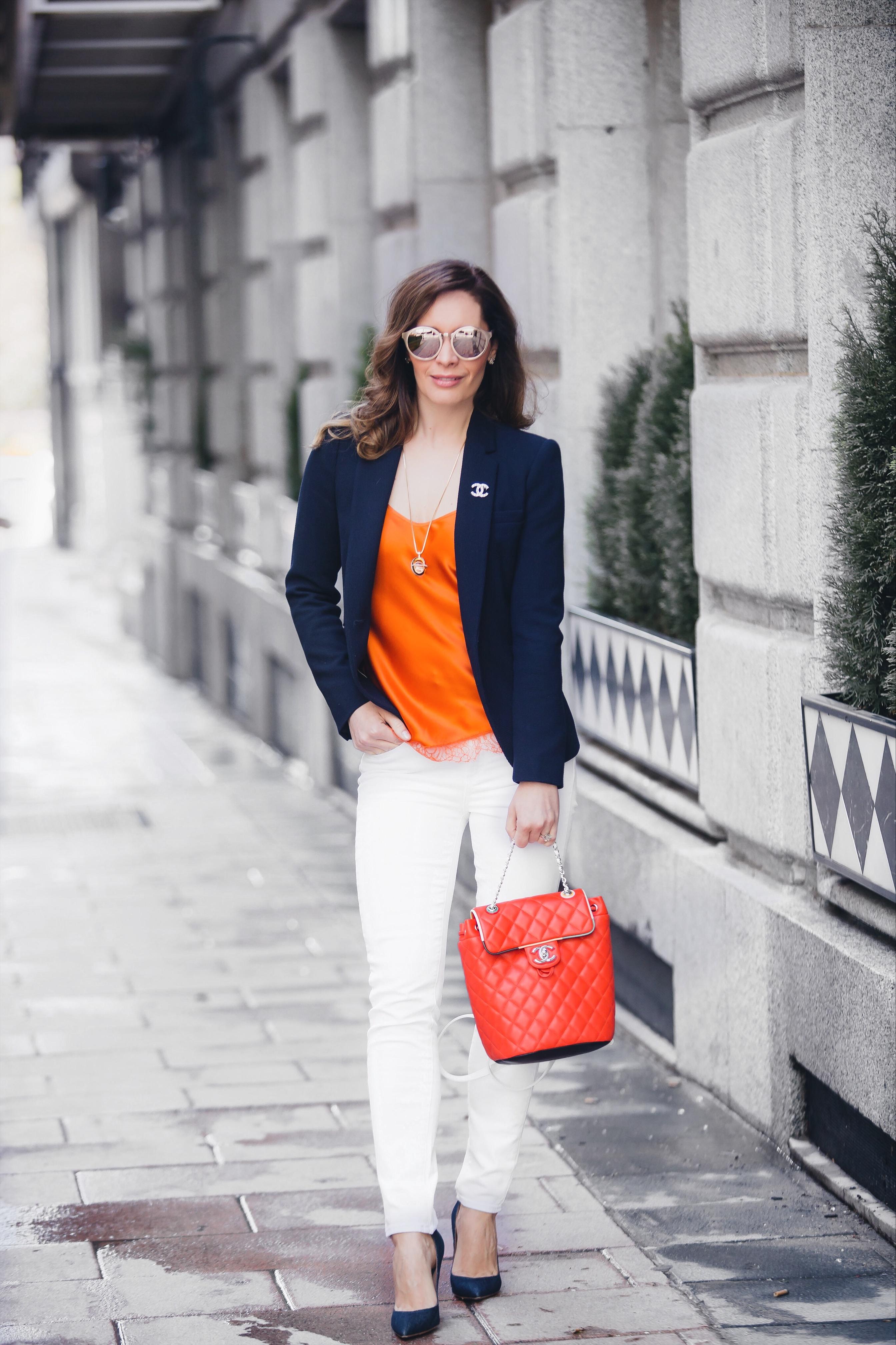 Chanel backpack Lingerie top