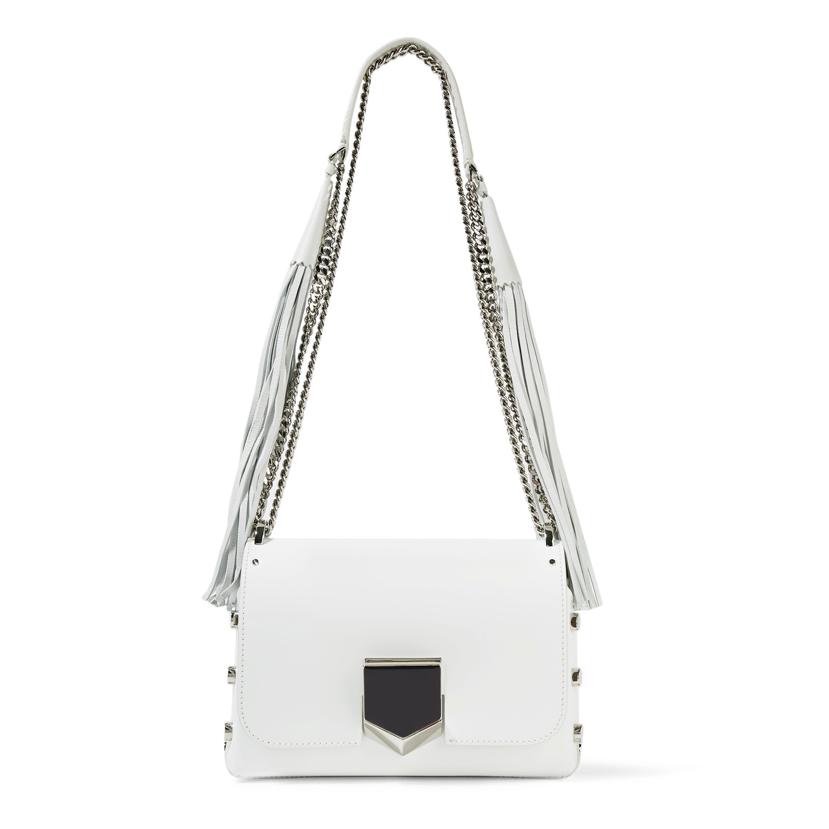 Jimmy Choo white handbag