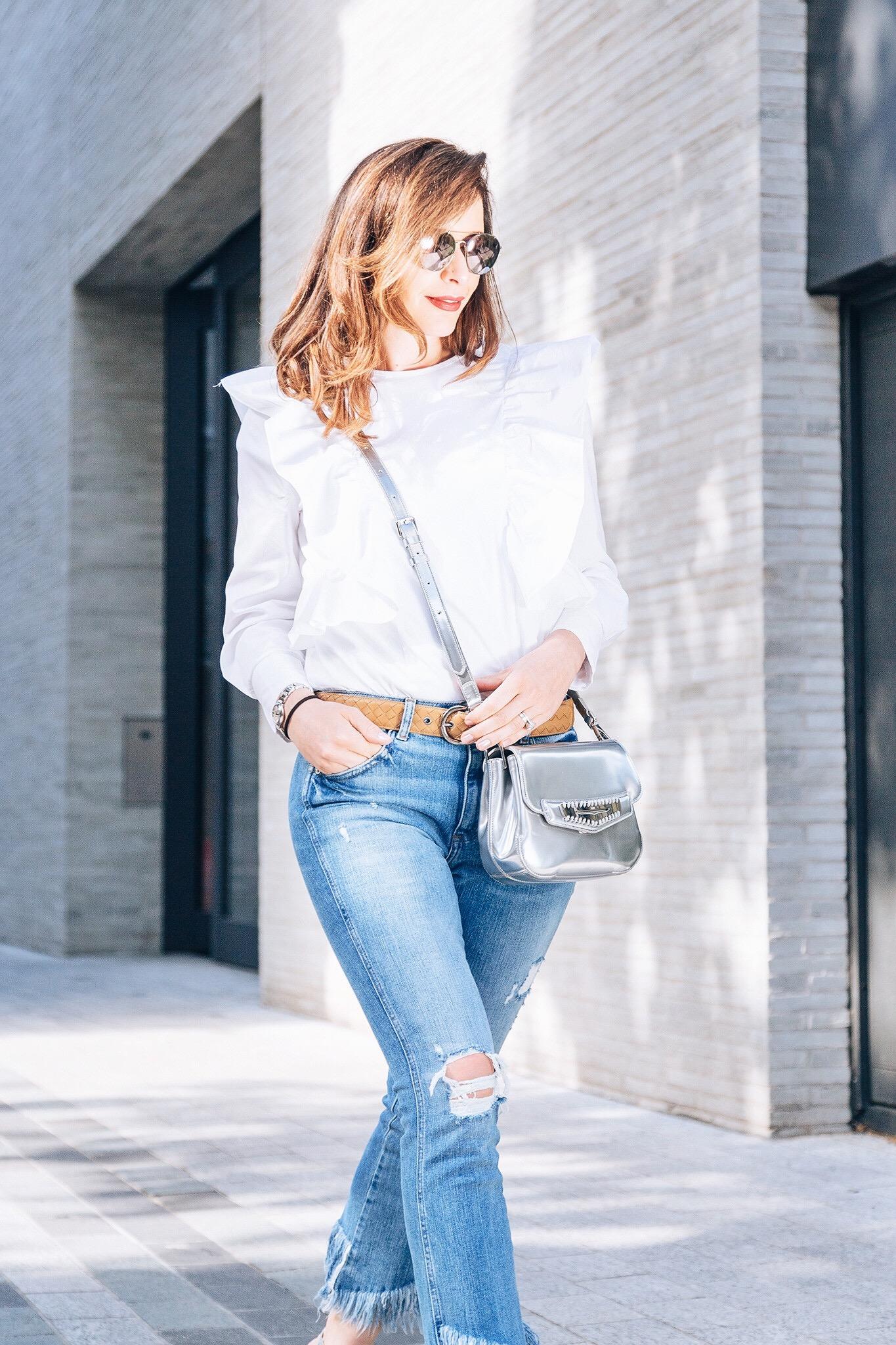 Silver Tods handbag