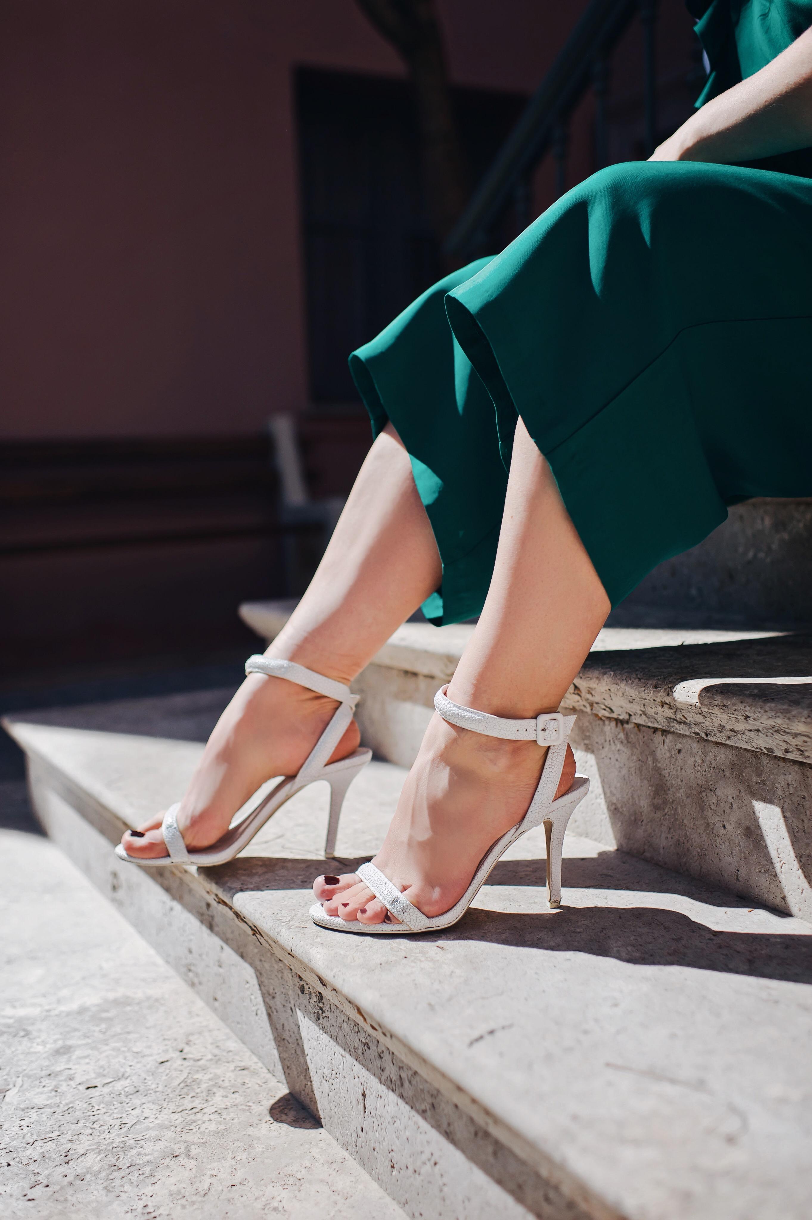 Alexander Wang white heels