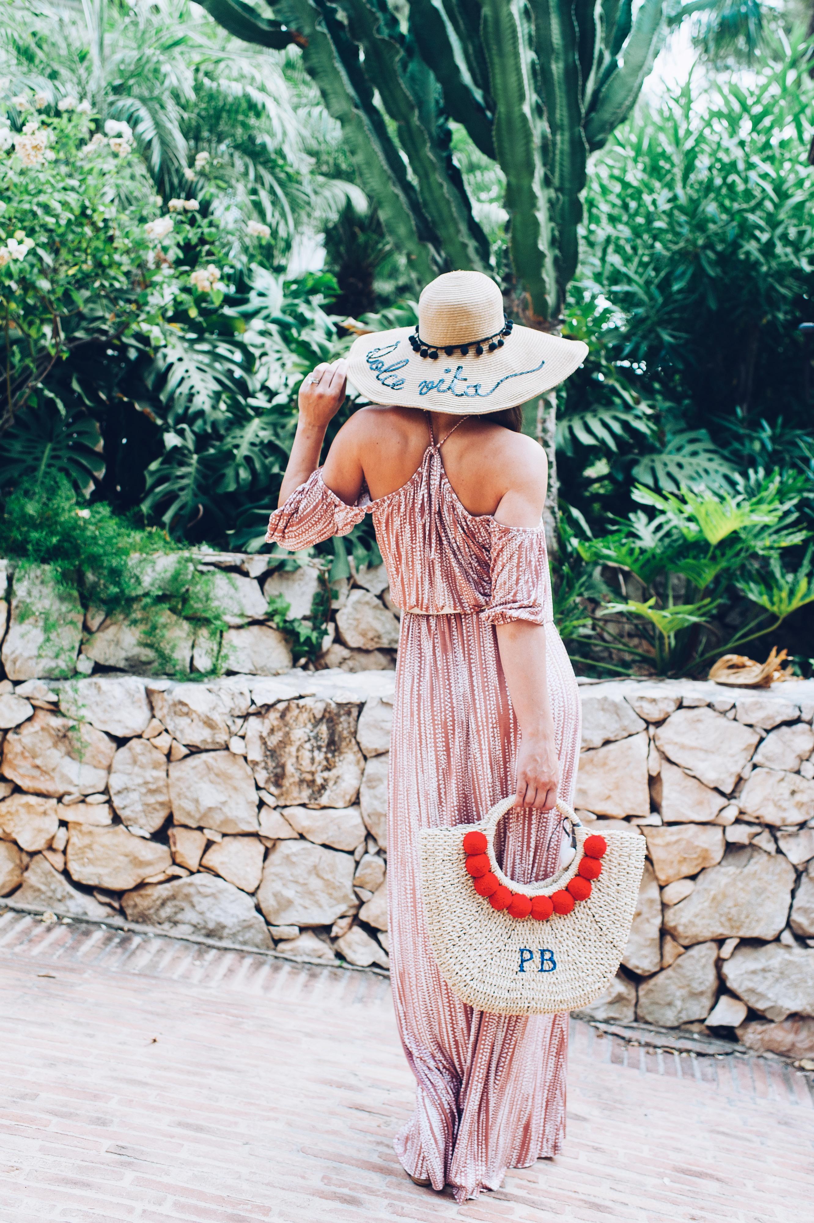 Rachel Pally long dress, Rae Feathers basket
