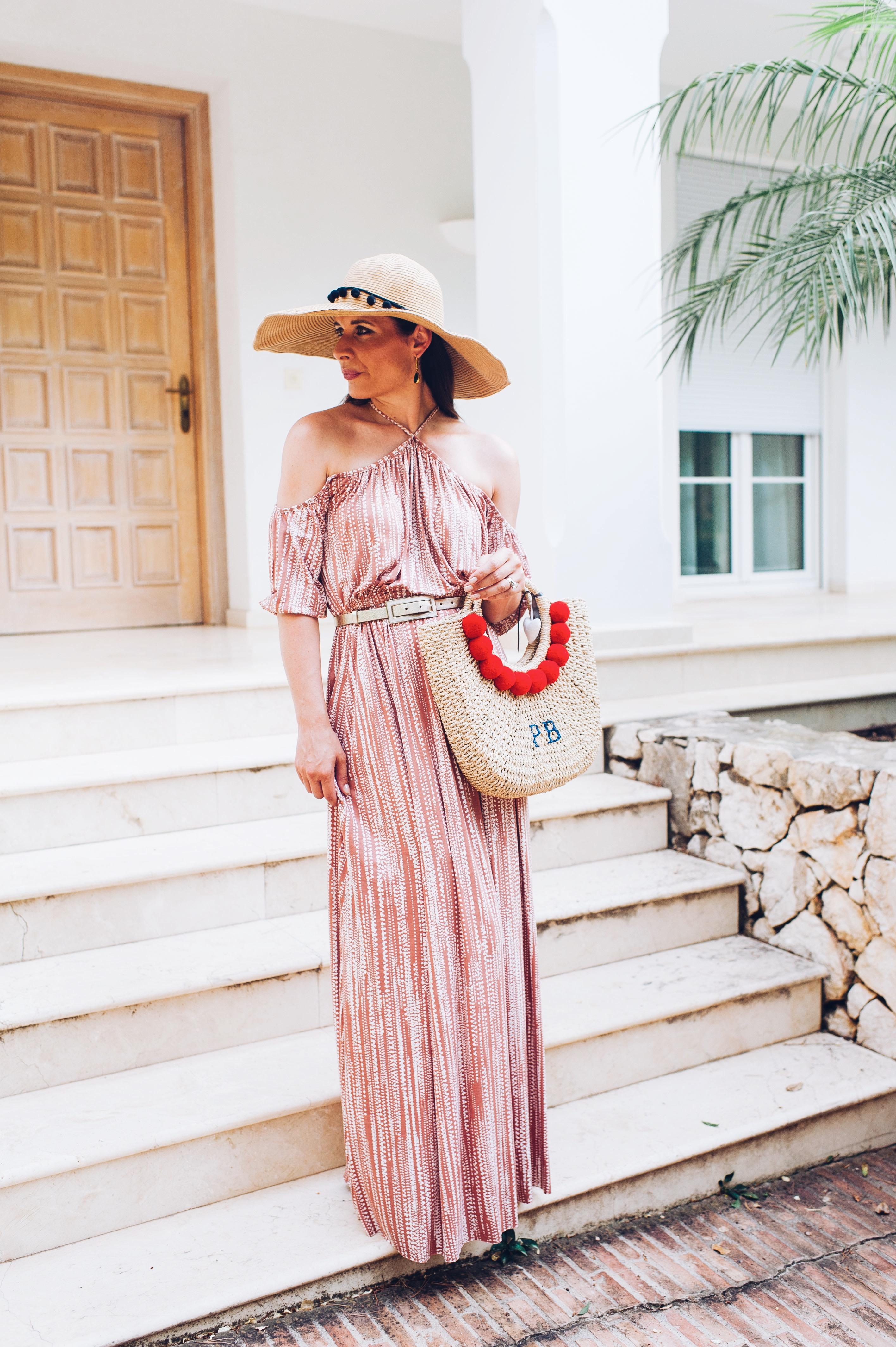 Rachel Pally summer dress, personalised hat