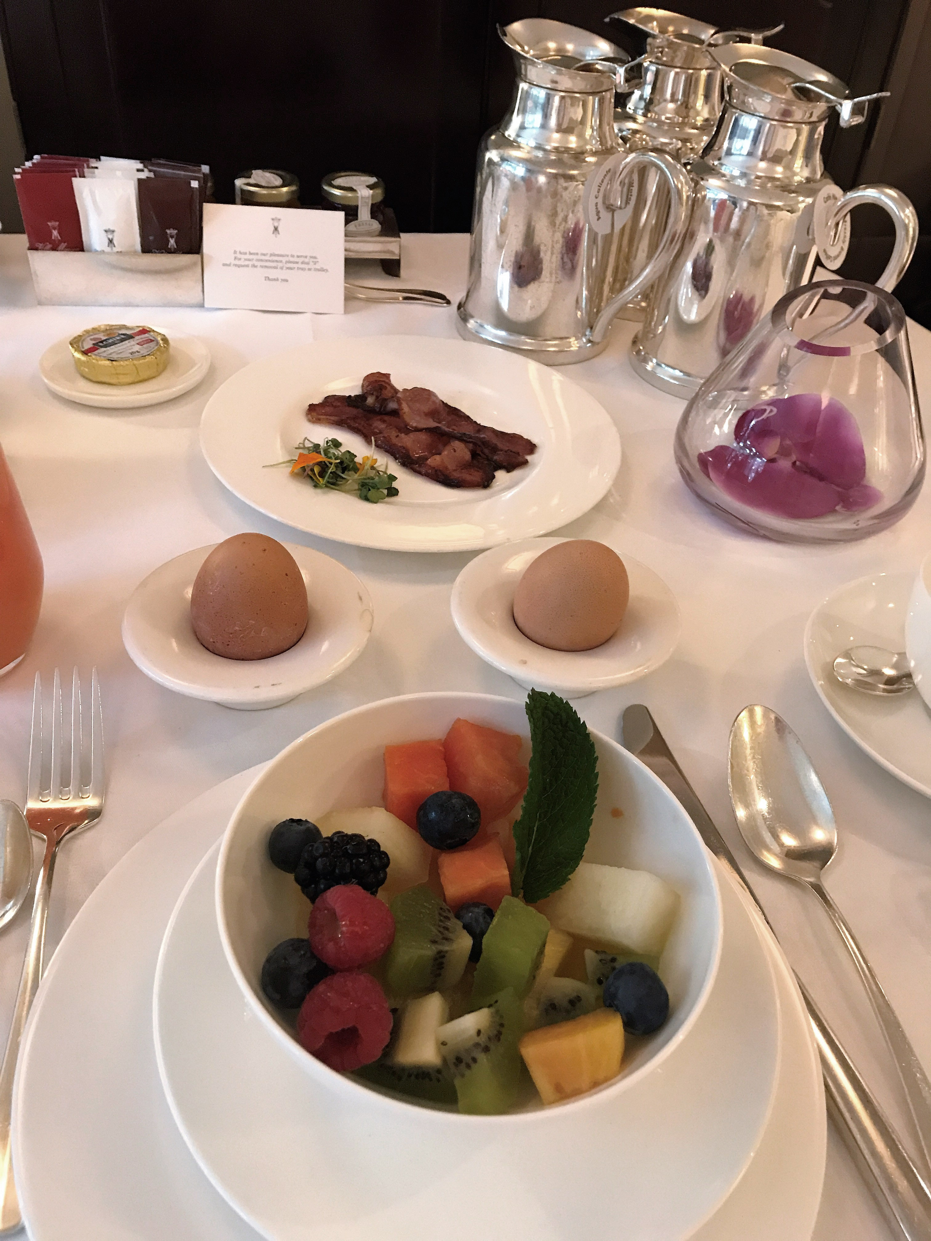 Villa Magna Hotel room service breakfast