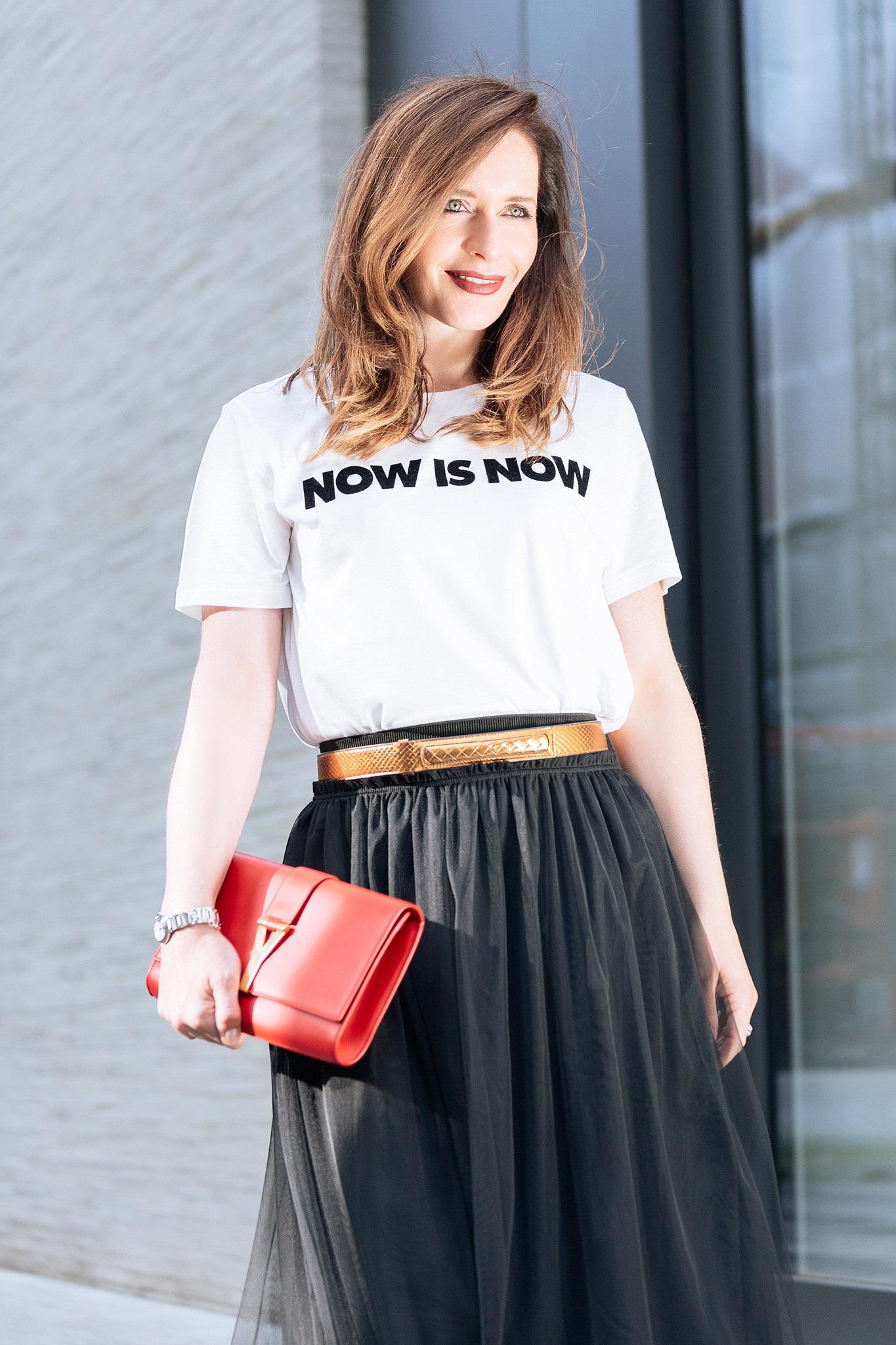 long tulle skirt H&M