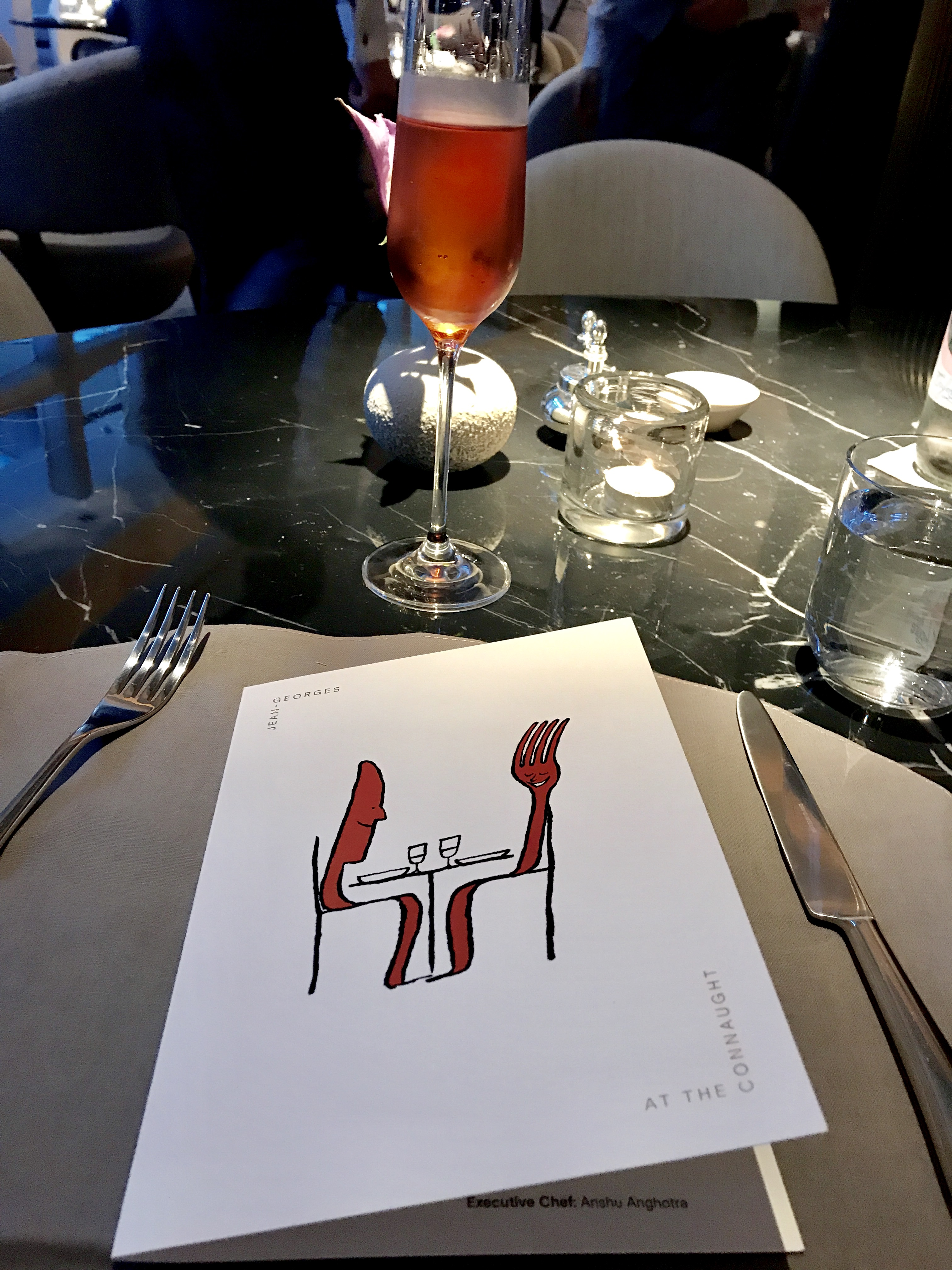 Jean Georges restaurant at The Connaught hotel