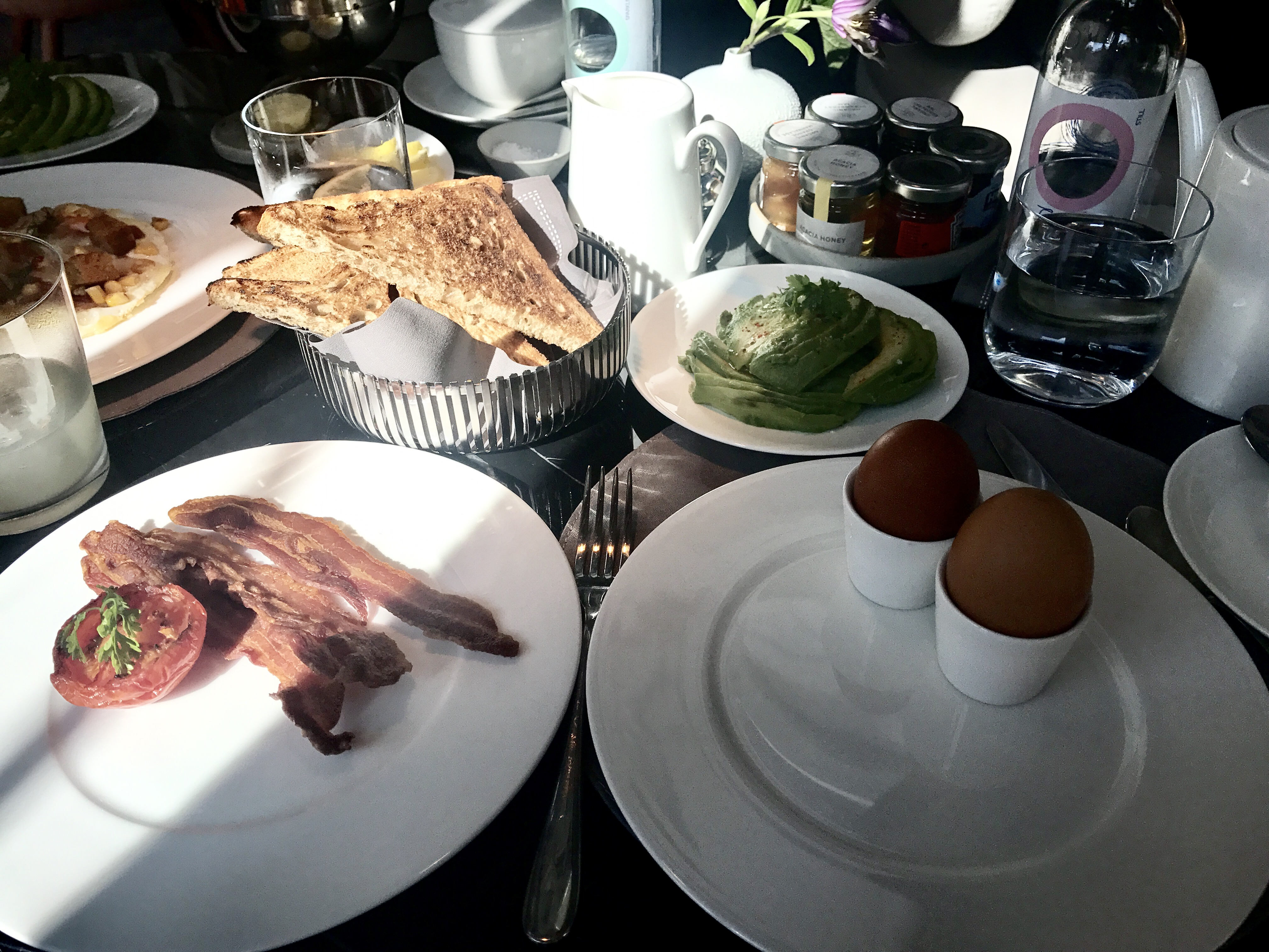 Breakfast at The Connaught hotel Jean Georges restaurant
