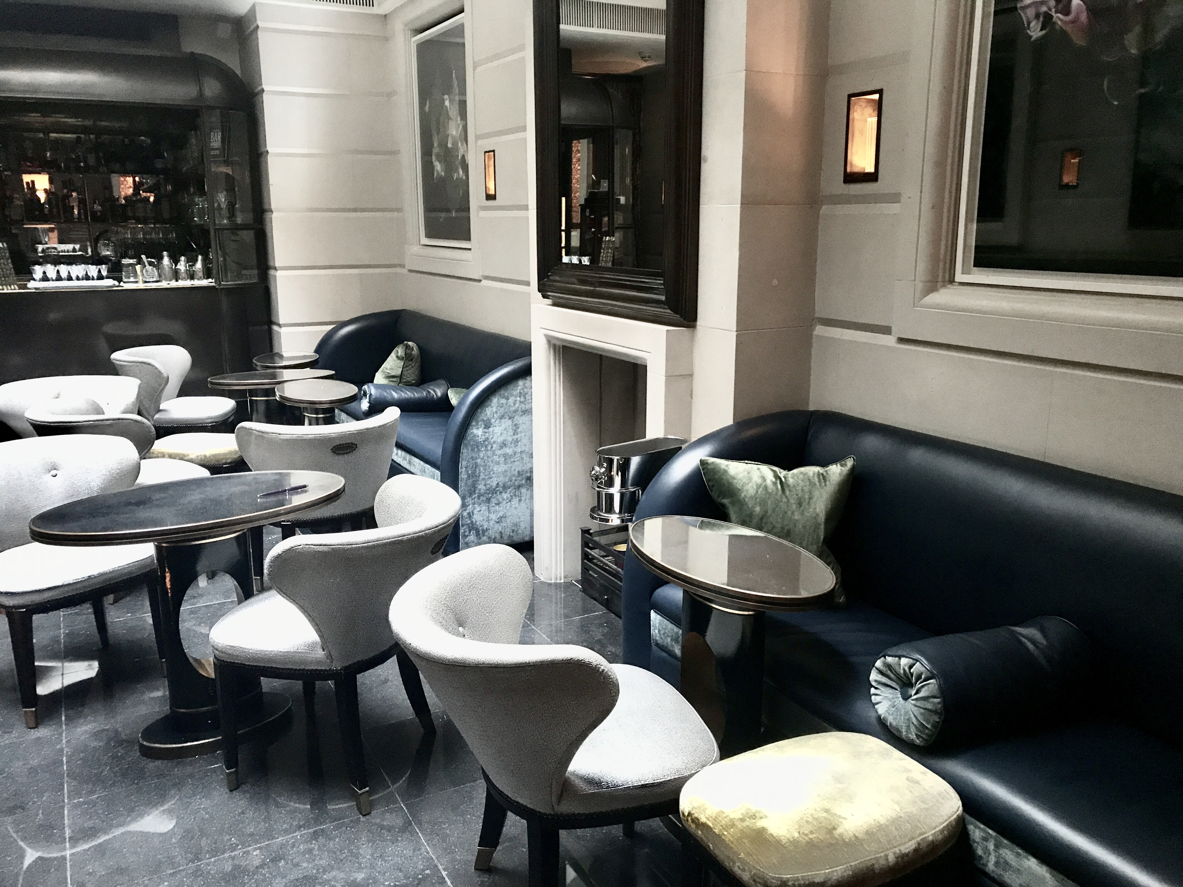 Champagne bar at the Connaught hotel