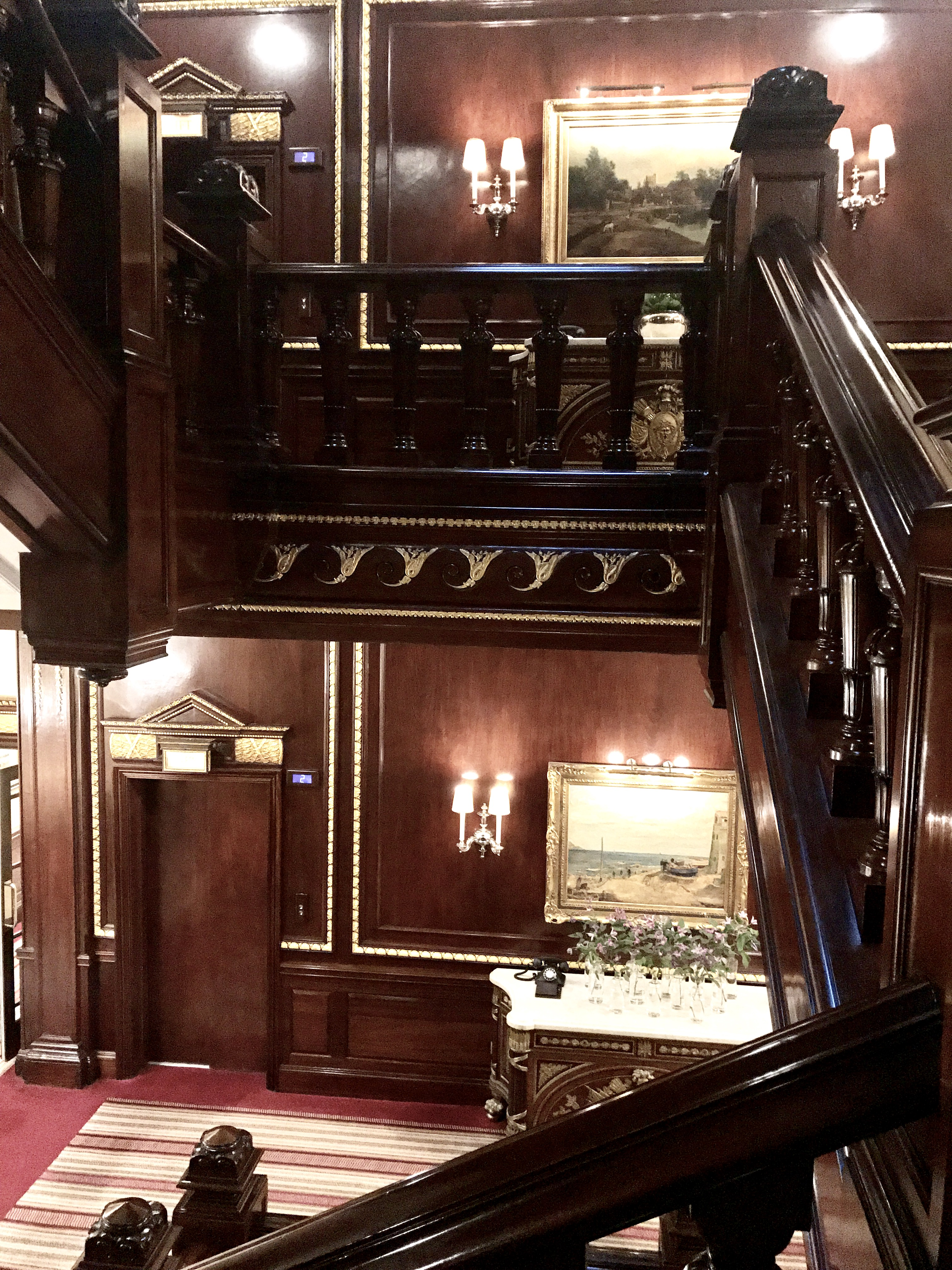 Beautiful staircase at the connaught hotel