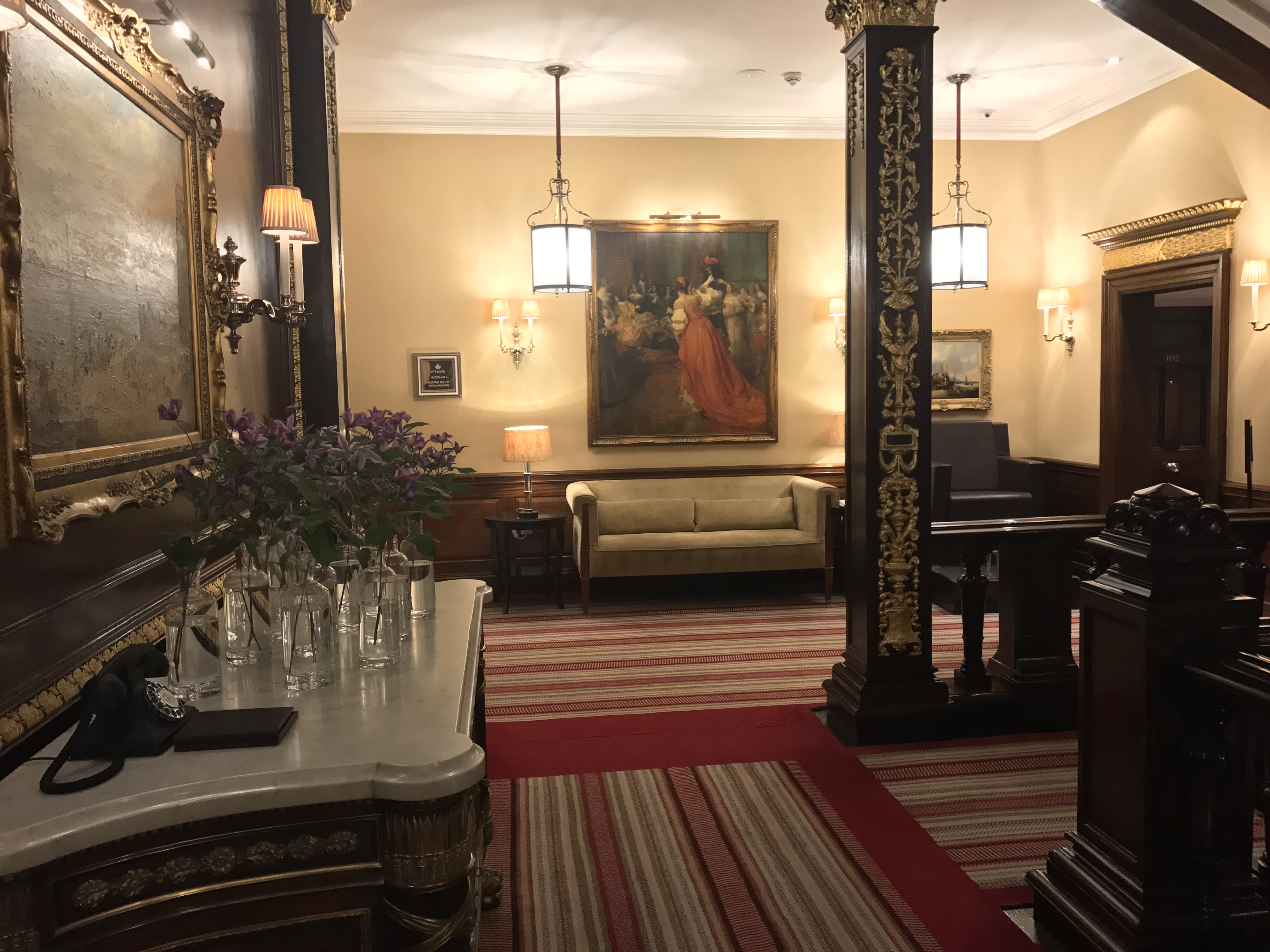 Hall at the Connaught hotel
