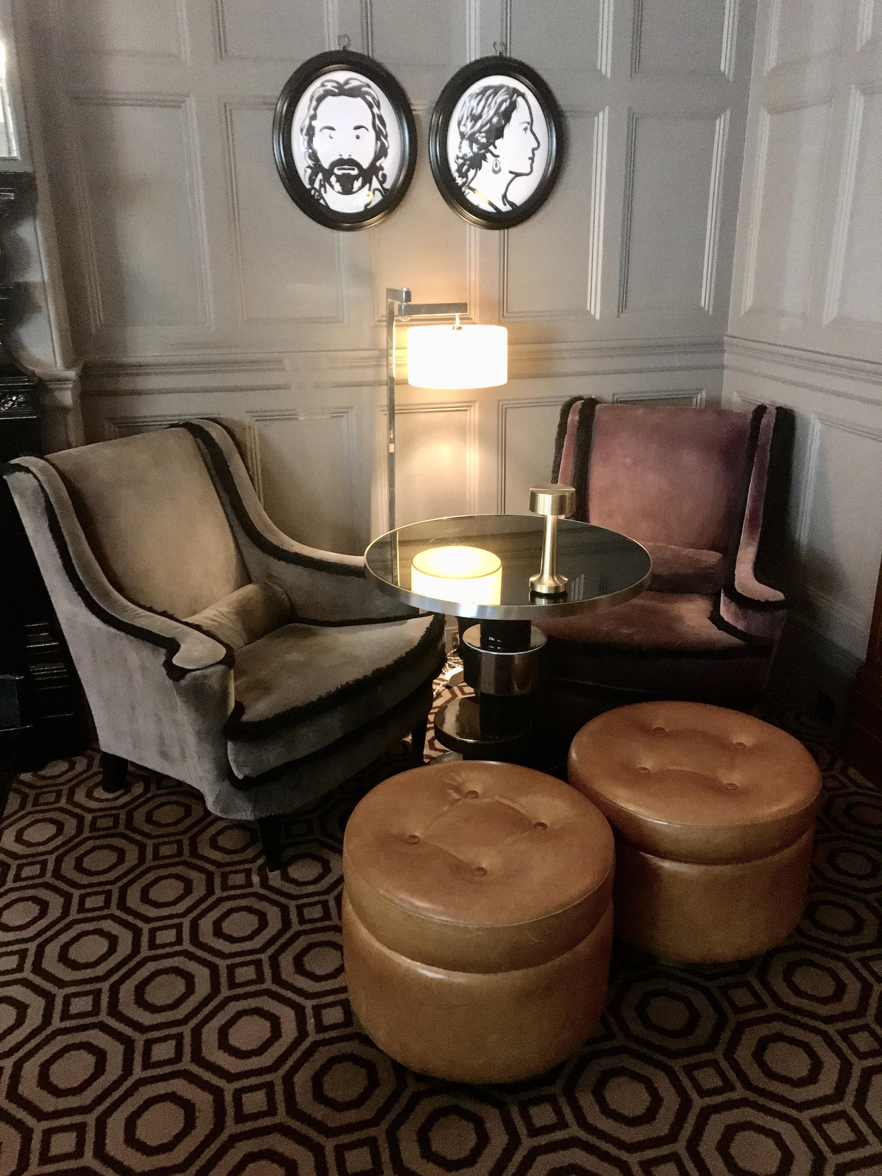 Coburg bar design at Connaught hotel