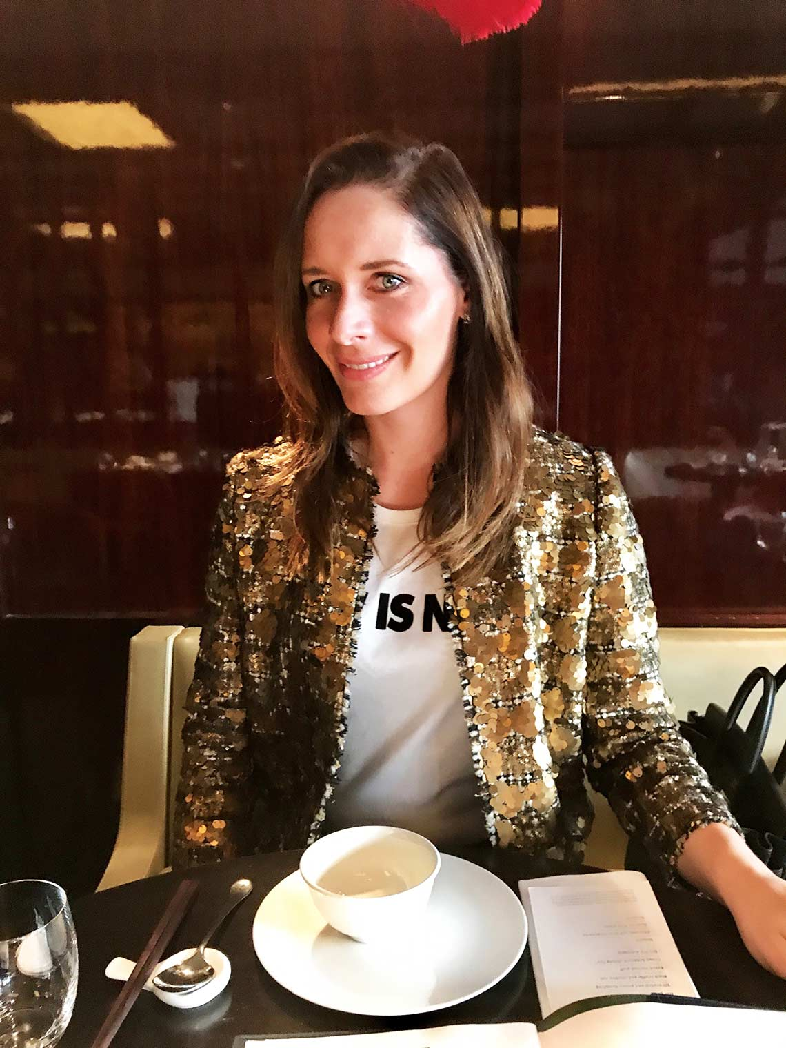 Chic Journal blogger Petra in Hakkasan Mayfair London