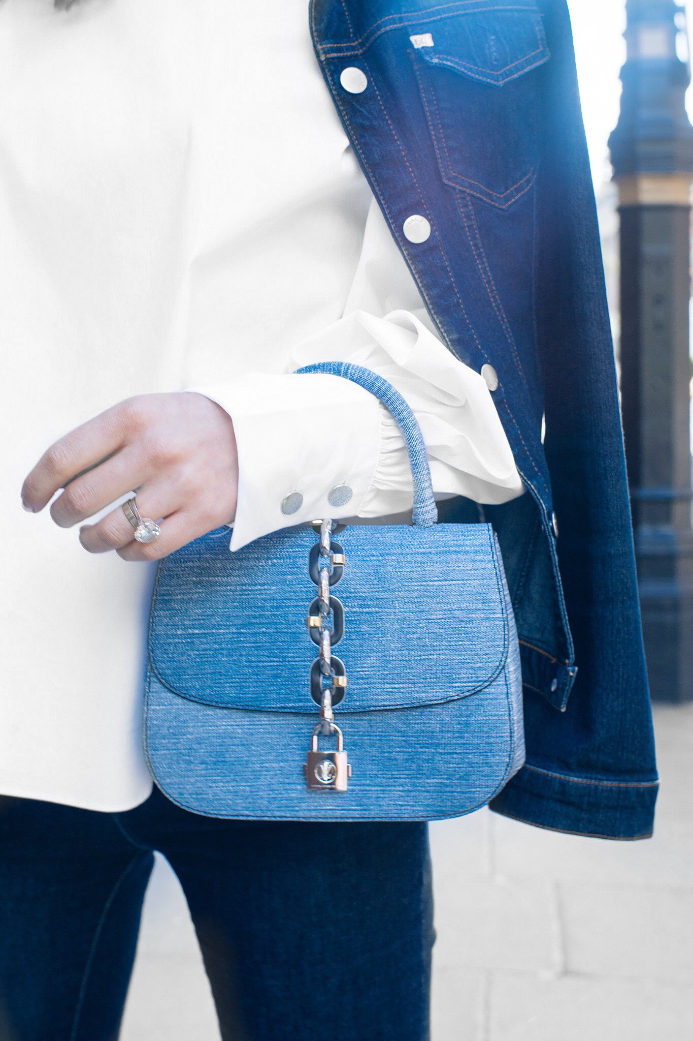 Denim Louis Vuitton Chain It Bag