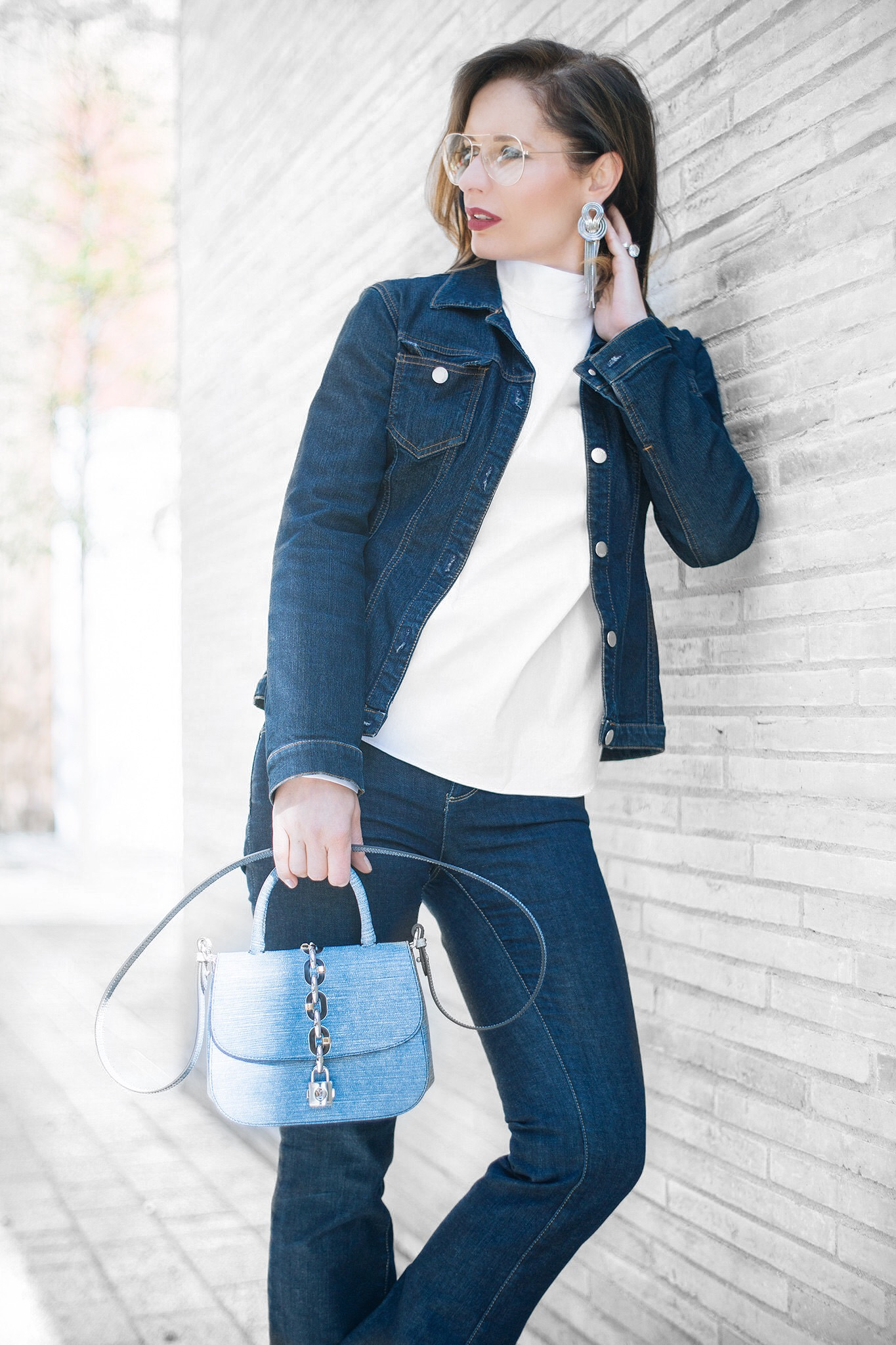 Wearing double denim is chic says Petra from Chic Journal blog