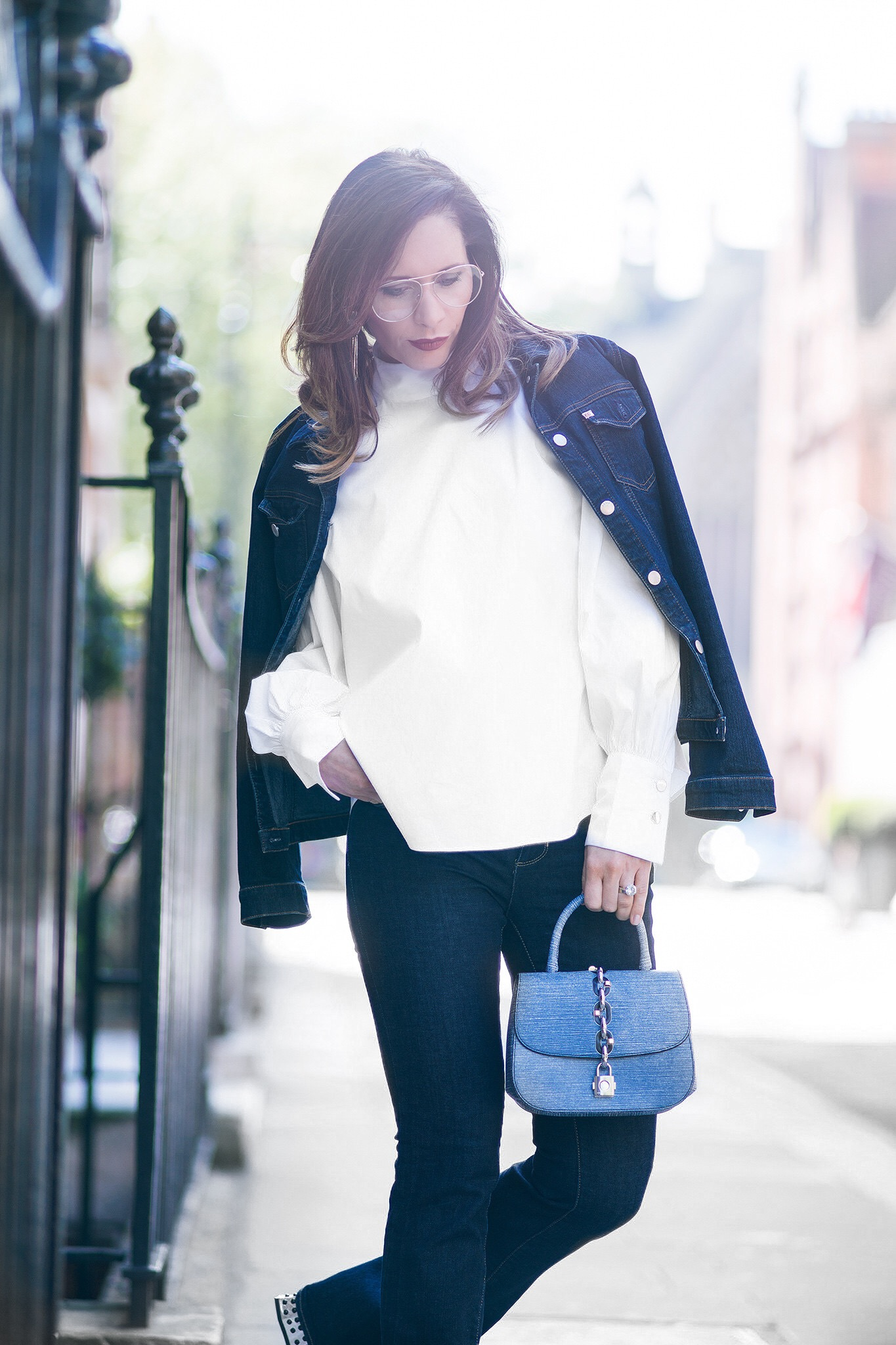 How to wear double denim by Chic Journal