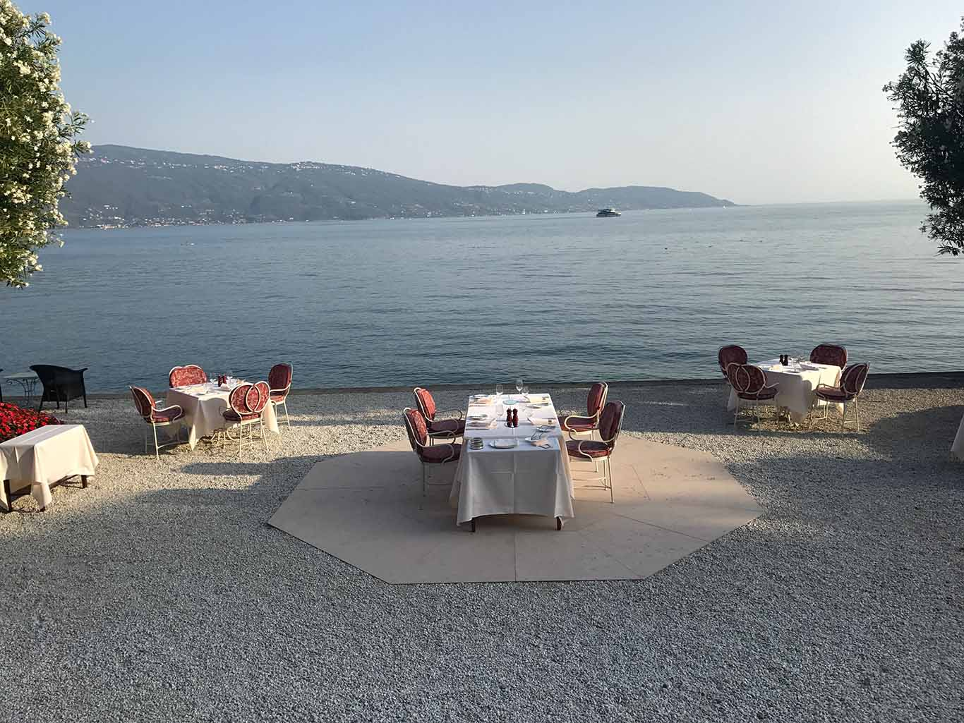 Dinner at Villa Feltrinelli Lake Garda Italy