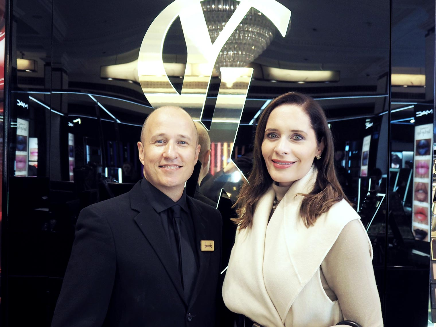 Petra Brisby from Chic Journal with YSL Make up artist Fred Letailleur