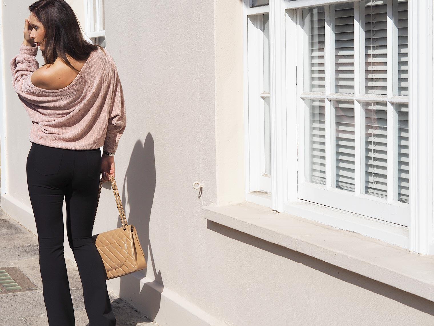 Autumn knit trends off the shoulder
