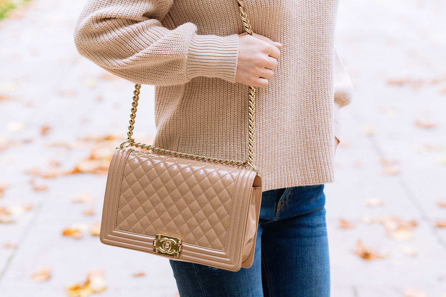 knitwear trends beige sweater