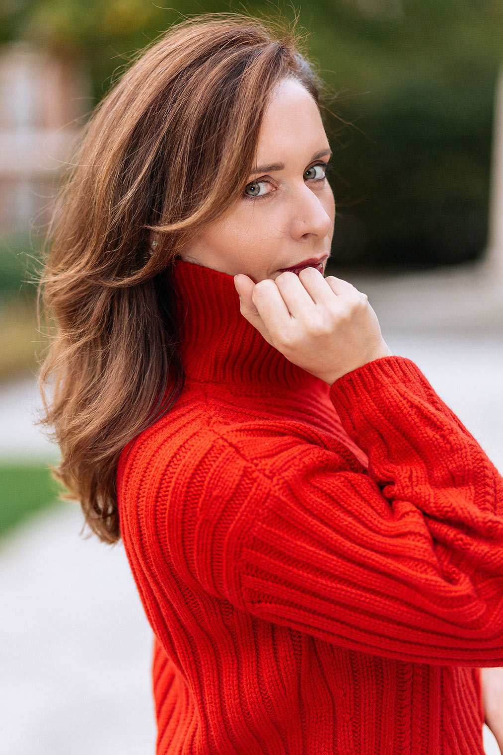 Red sweater Massimo Dutti