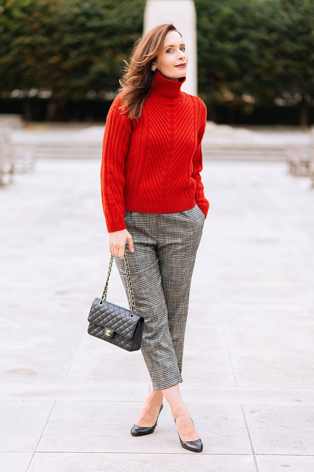 Fall trend red sweater
