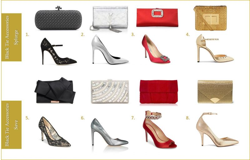 Best shoes and handbags for black tie event