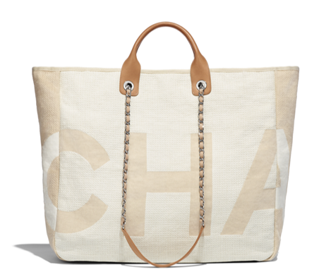 Chanel new collection 2018 canvas tote