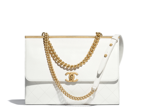 White Chanel flap bag summer collection 2018