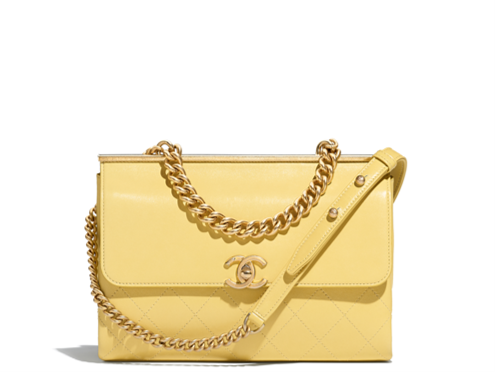 Chanel flap bag yellow