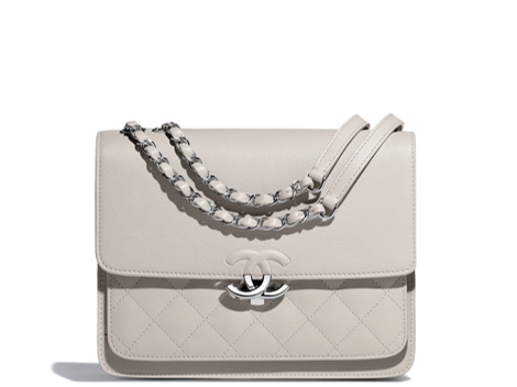 Grey flap bag Chanel summer collection 2018