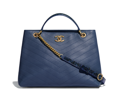 Large blue Chanel tote summer 2018
