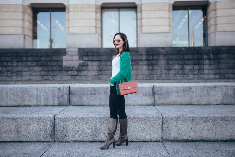 How to wear green by Chic Journal
