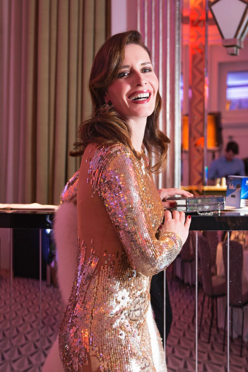 Sequins dress by Elisabetta Franchi for the 40's birthday party