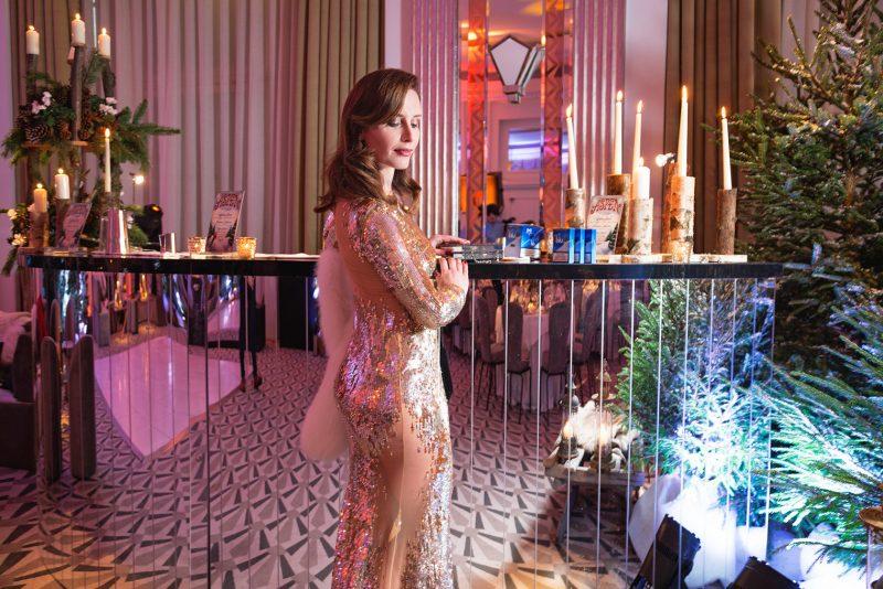 Claridges hotel ballroom for the Chic Journal blogger 40's birthday party