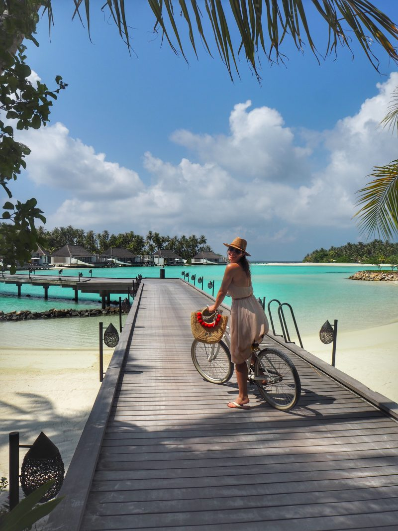 Chic Journal blogger Petra Brisby at Cheval Blanc Randheli Maldives