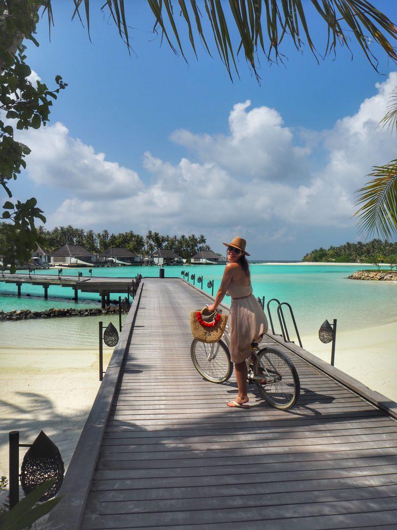 Chic Journal blogger Petra Brisby at Cheval Blanc Randheli Maldives