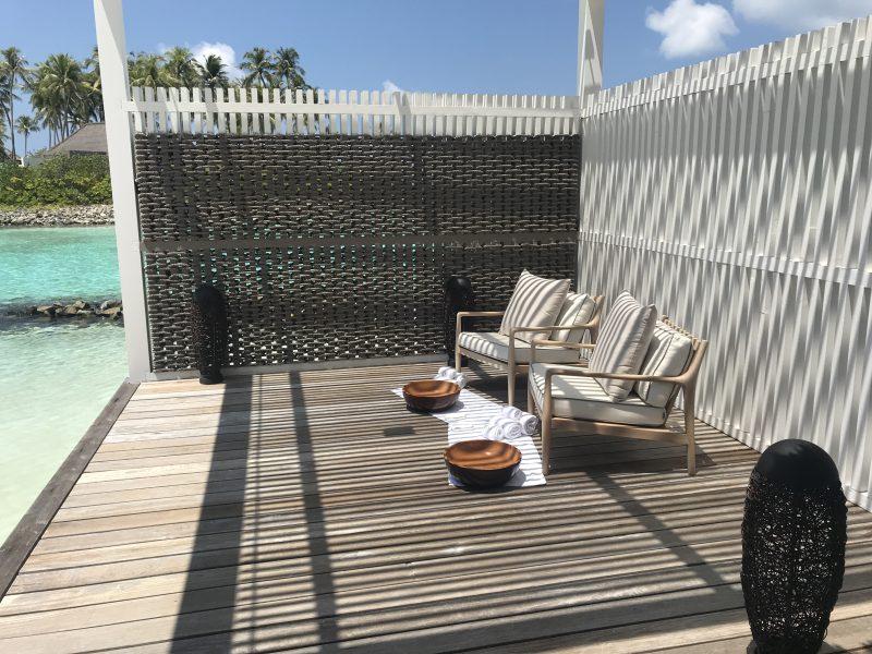 Treatment rooms at spa Cheval Blanc Maldives