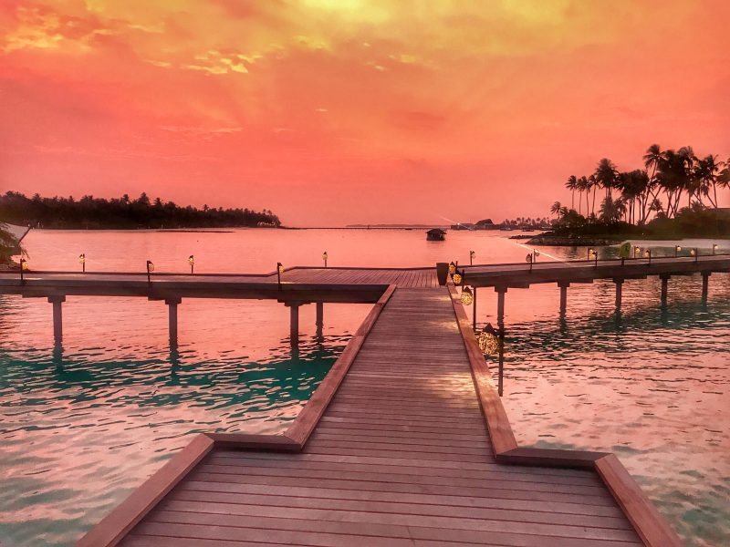 Cheval Blanc Maldives sunset