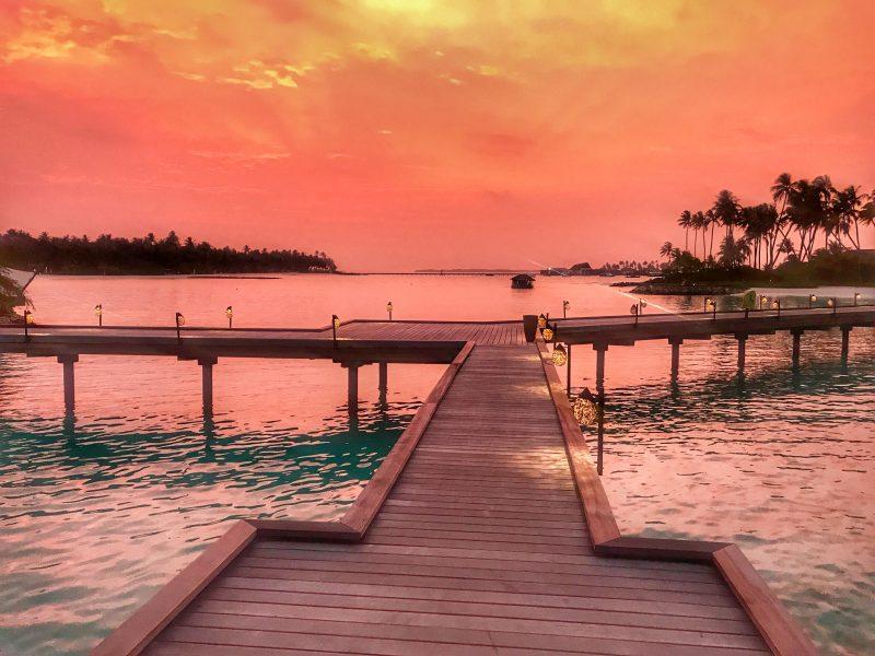 Cheval Blanc Maldives sunset