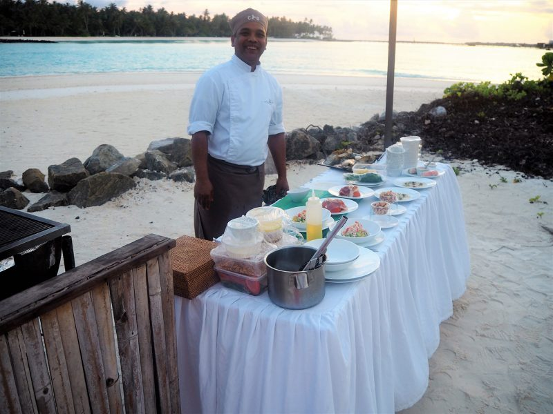 Cheval Blanc Maldives private BBQ on the beach