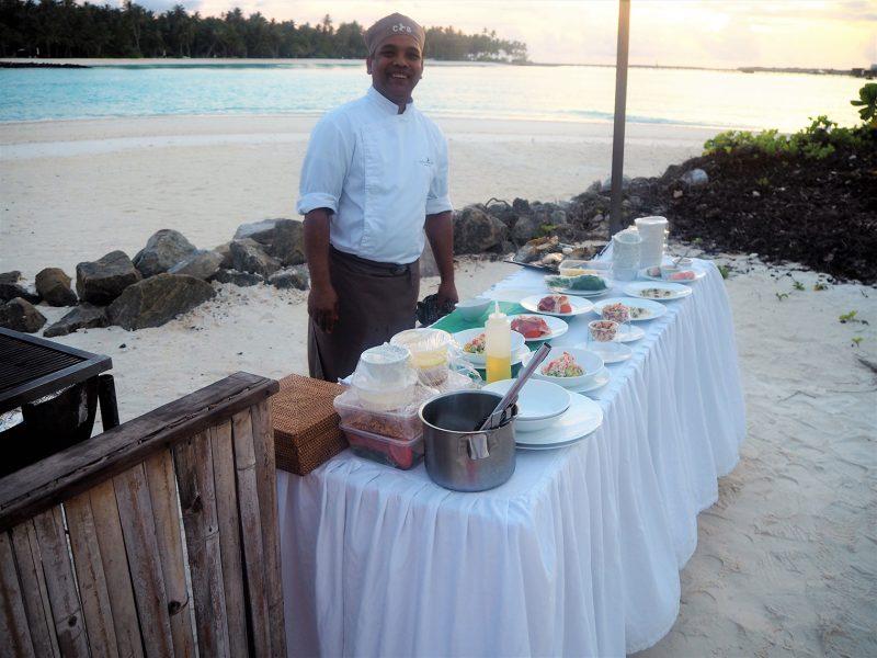 Cheval Blanc Maldives private BBQ on the beach
