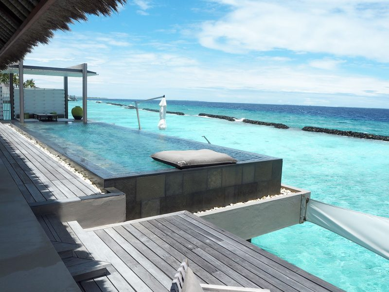 Cheval Blanc Maldives water villa terrace