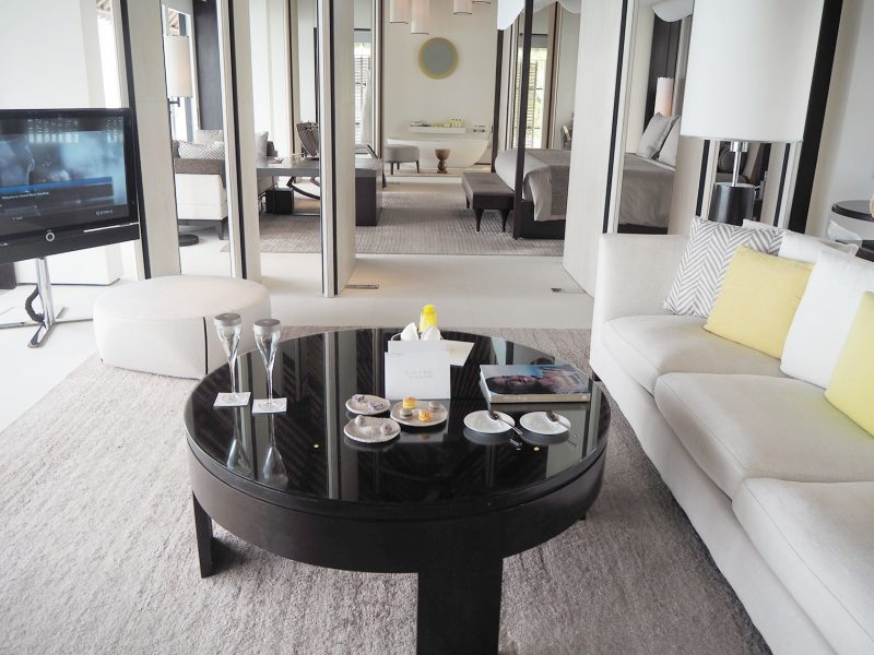 Cheval Blanc water villa sitting room
