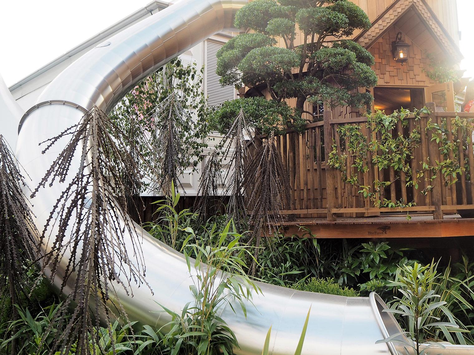 Garden display at Chelsea flower show 2018