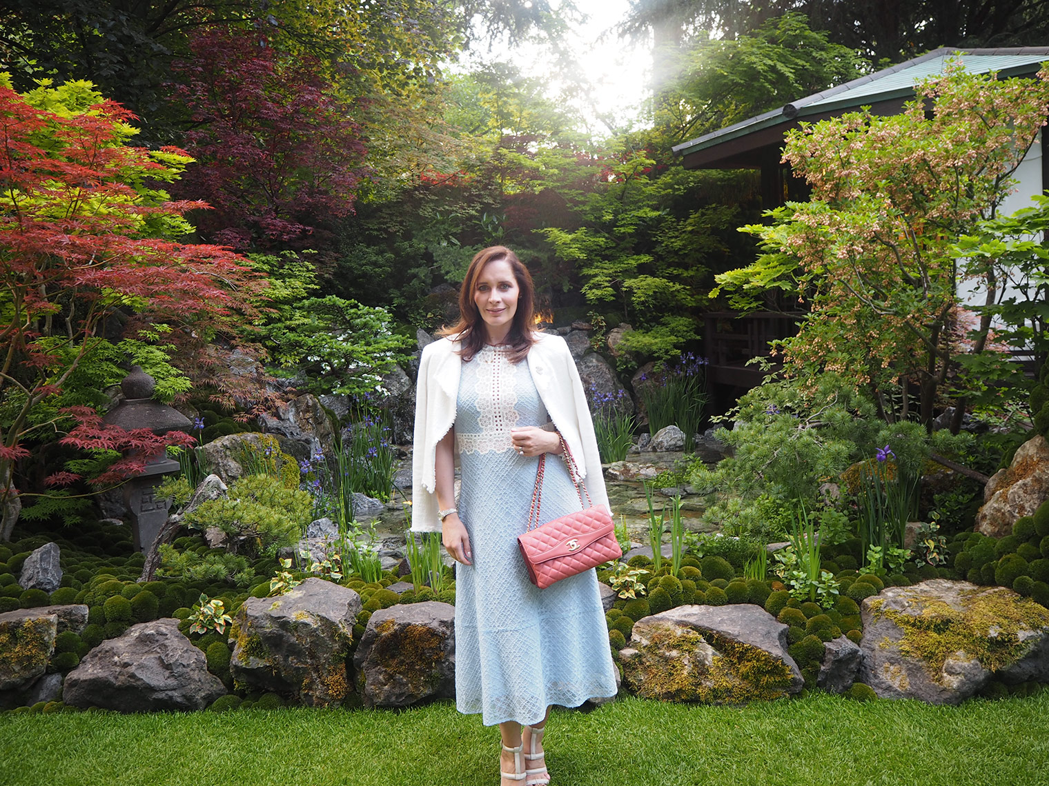Chic Journal blogger Petra at Chelsea flower show preview 2018