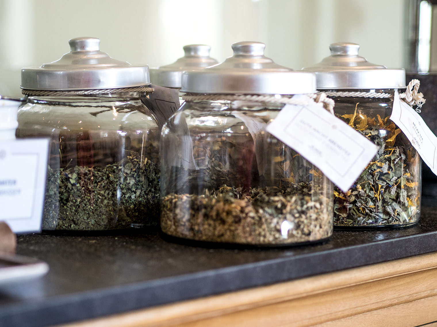 Tea selection at detox clinic The Original FX Mayr Austria